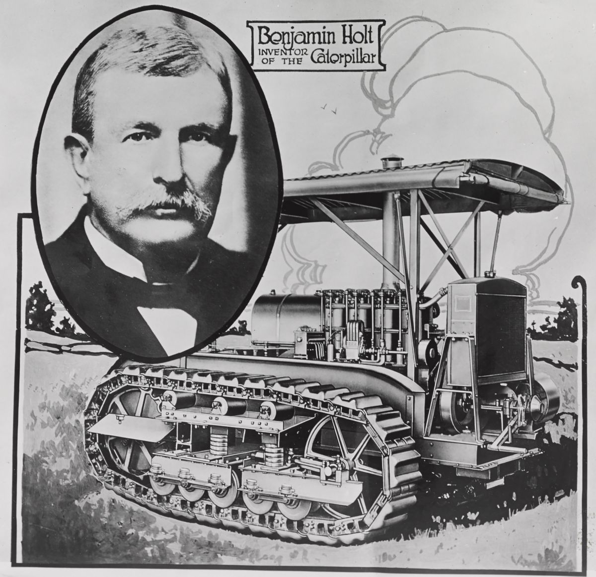 Benjamin Holt is credited with inventing the first commercially successful track-type tractor in 1904.