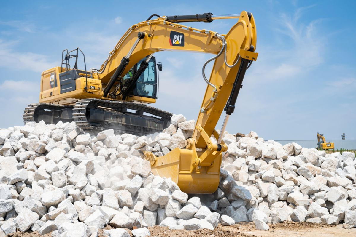 The Cat 345 GC used for rock excavation