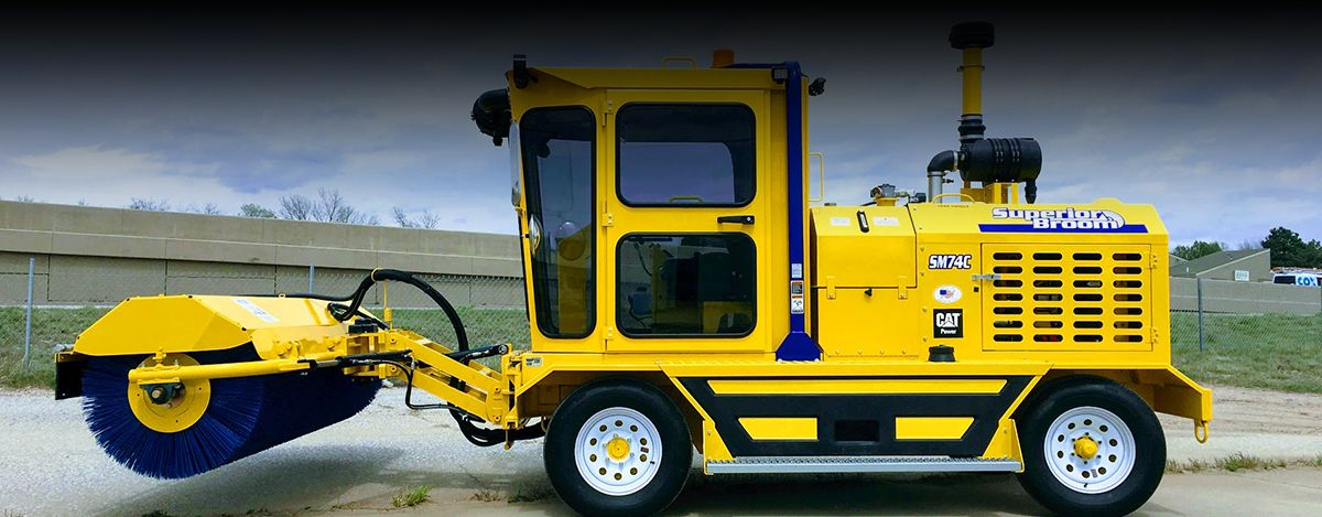 SB Manufacturing, Inc. Superior Broom SM74 and DT74 Sweepers - Cat® C3.4 Engine