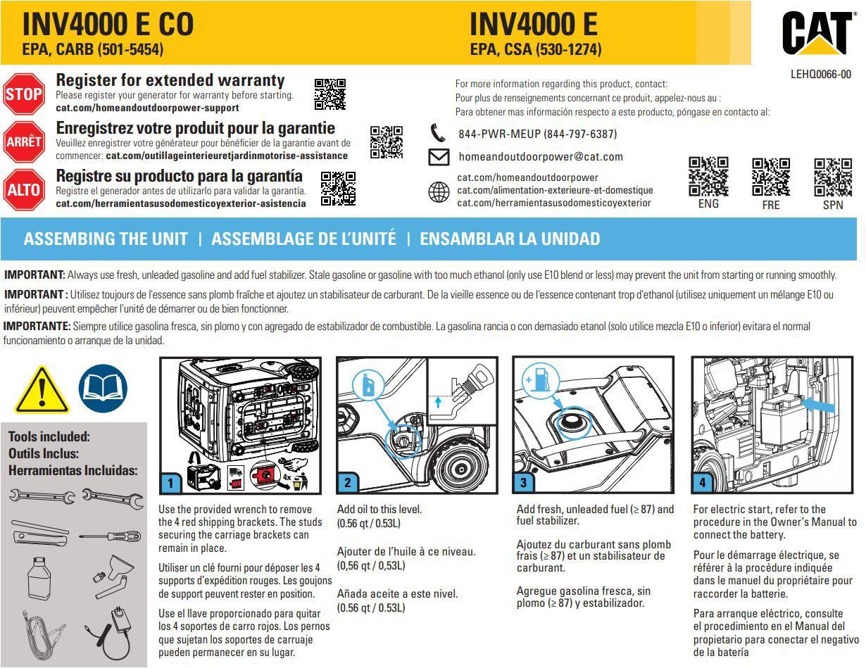 INV4000 E Quick Start Guide