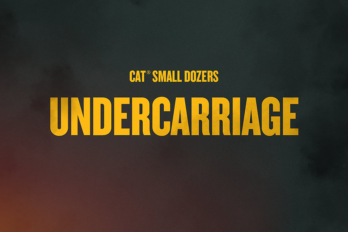 Undercarriage on the Next Generation Cat D1, D2 and D3 Small Dozers