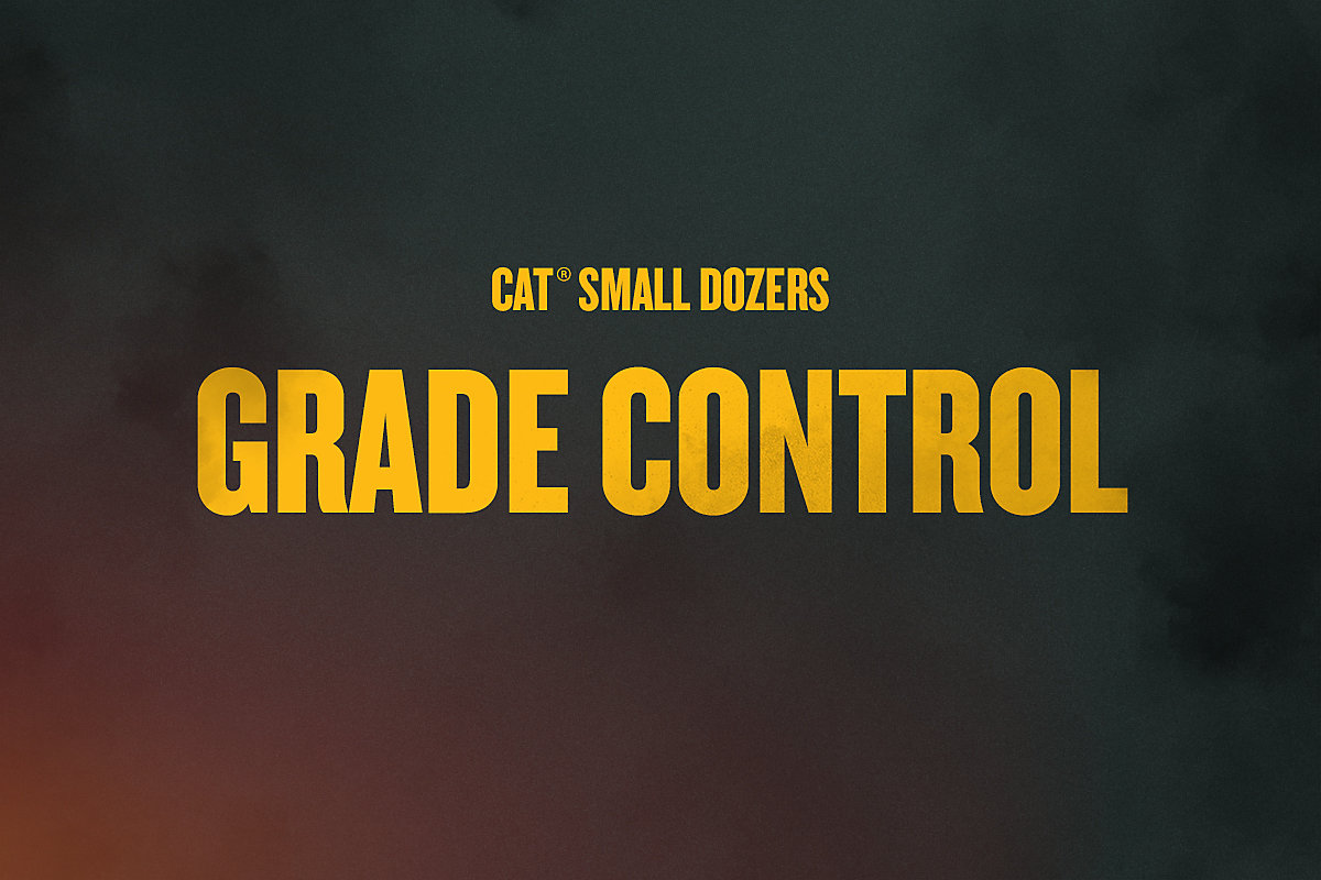 Grade Control on the Next Generation Cat D1, D2 and D3 Small Dozers
