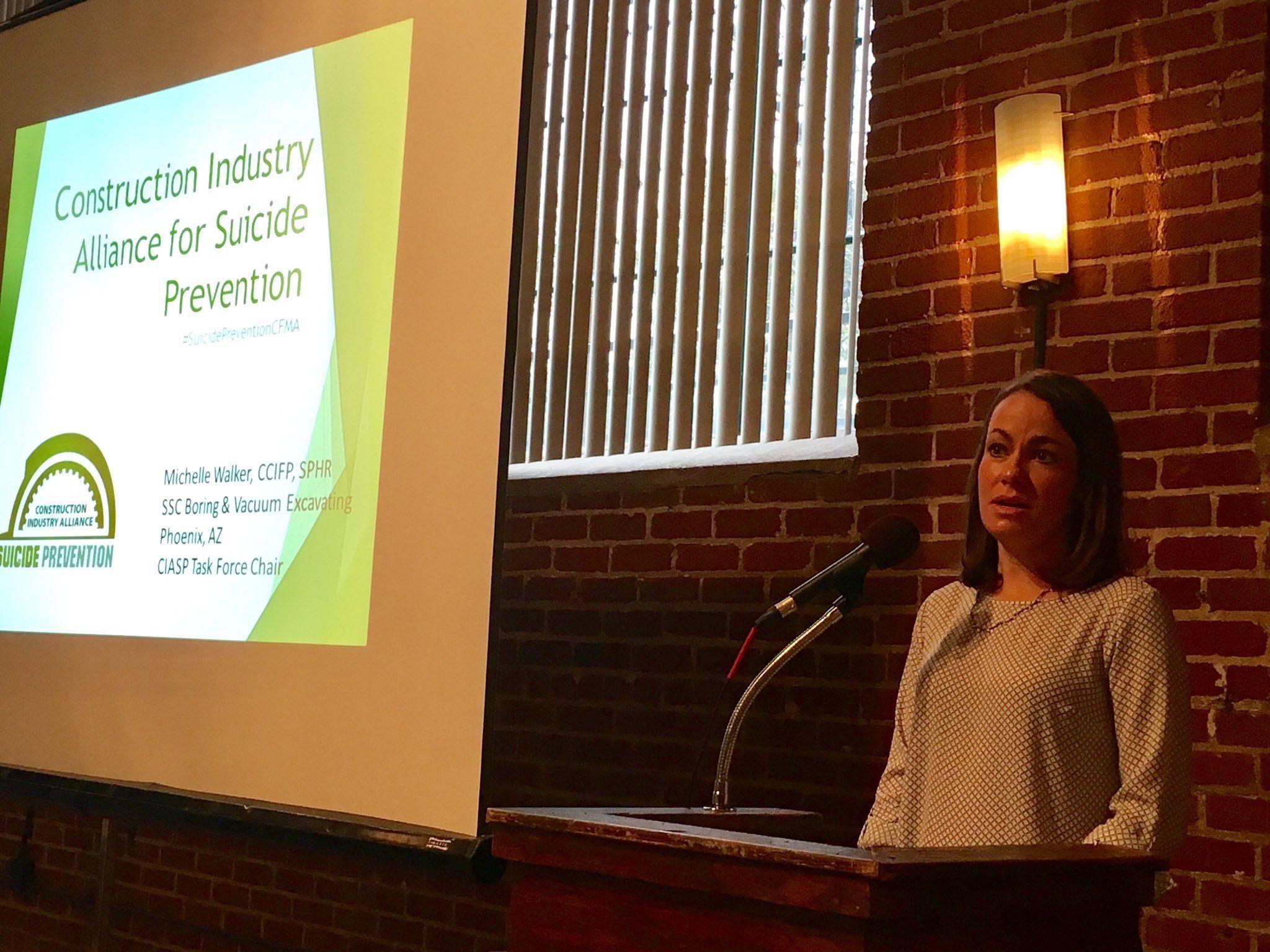 Michelle Walker giving presentation