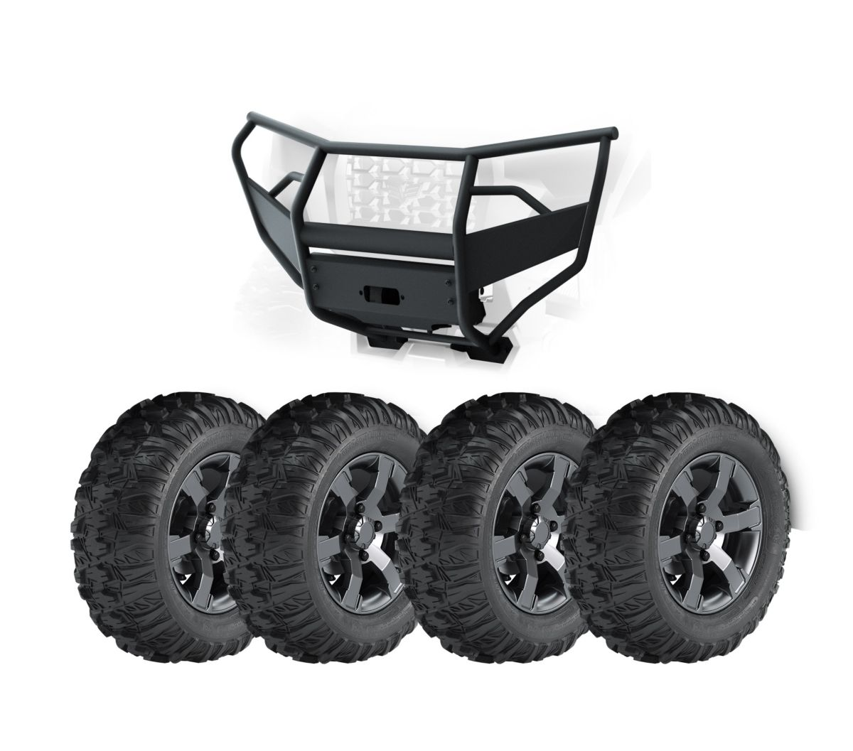 "Kit, 27"" Tires, Aluminum Rims and Steel Bumper"