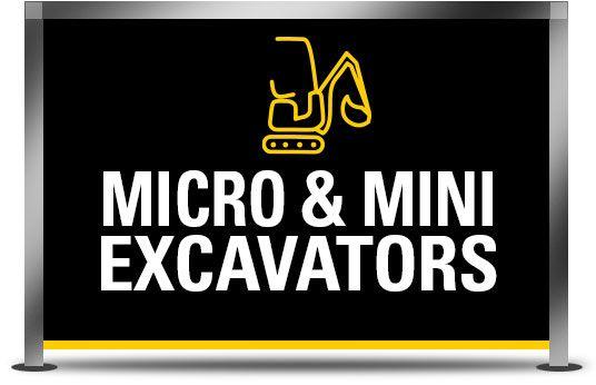 Micro and Mini Excavators