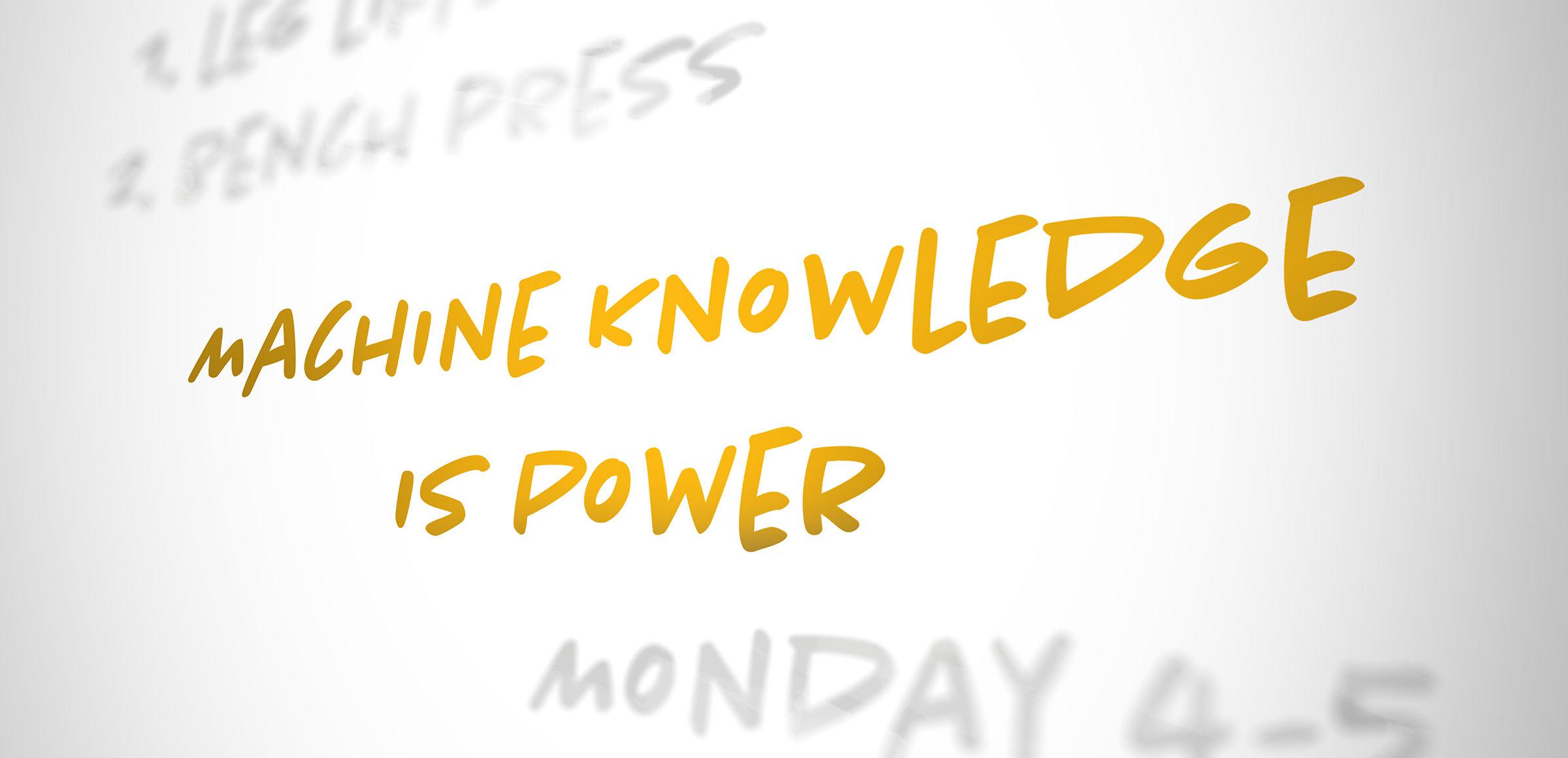 Machine Knowledge is Power