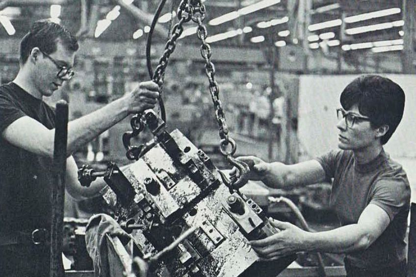 Elda Howe joined Caterpillar's two-year machine shop training program in the late 1960's.