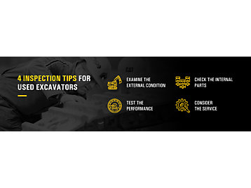 4 Inspection Tips for Used Excavators
