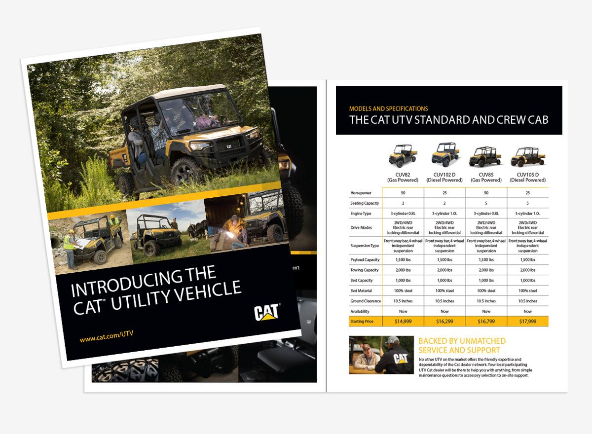 Cat UTV Spec Brochure