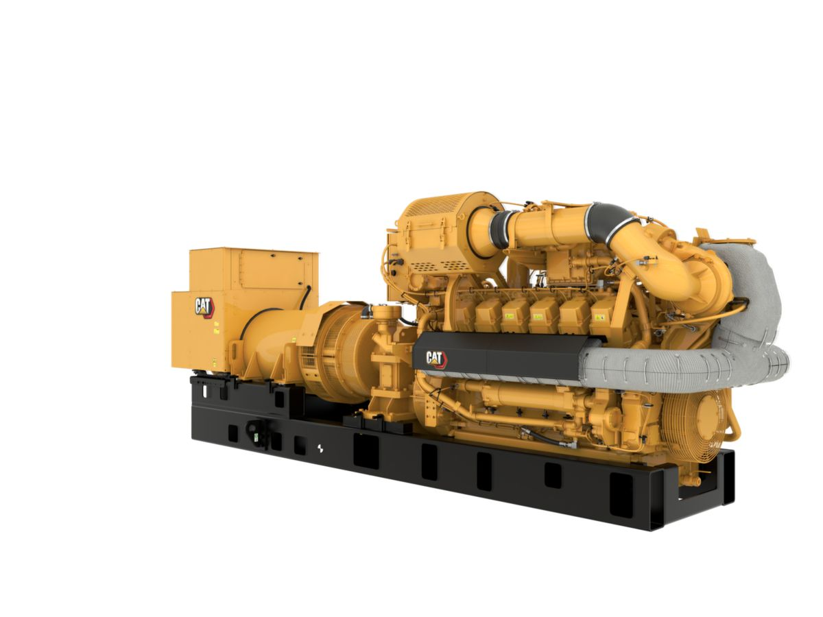 G3512H 60 Hz Gas Open Generator Set, Front Right View