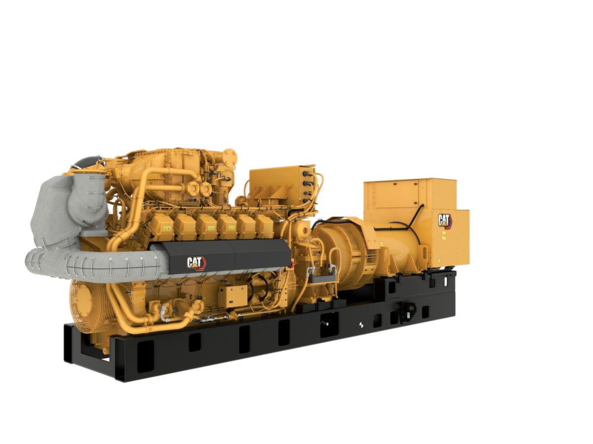 G3512H 60 Hz Gas Open Generator Set, Front Left View