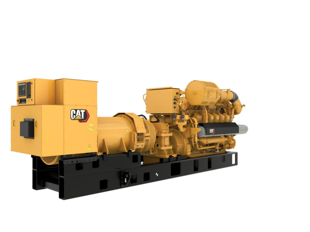 G3512H 60 Hz Gas Open Generator Set, Rear Right View