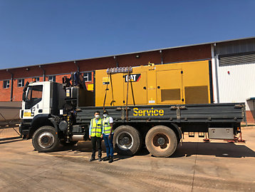 Delivery of Cat® DE550 diesel generator set to Tenke Fungurume Mining