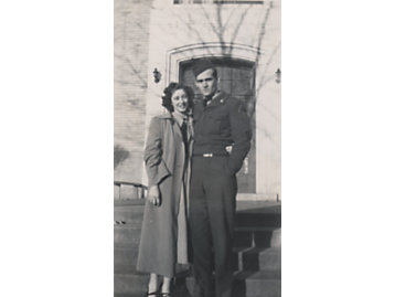 KW and Willadean L Nichols Before Leaving For Korea February 1952