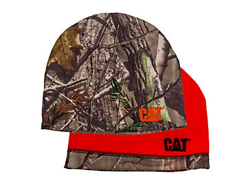 Reversible Beanie Orange and Camo