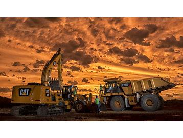 Trucks during Sunset