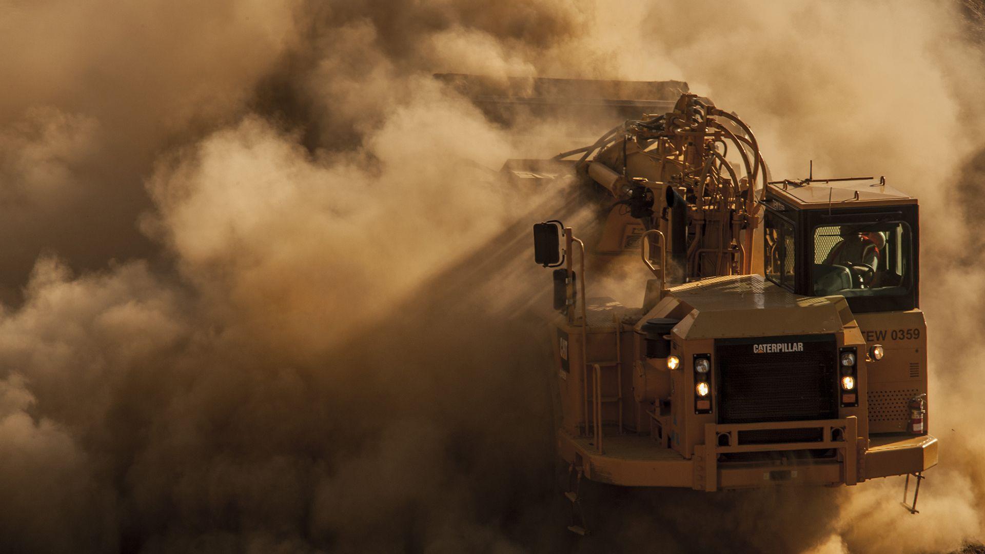 Truck in Dirt