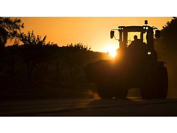 Machine during Sunset