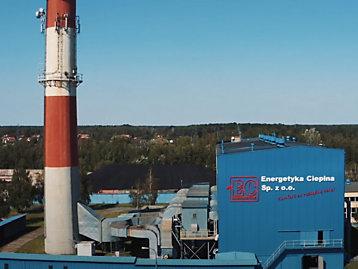 Energetyka Cieplna's district heating plant in Skierniewice, Poland