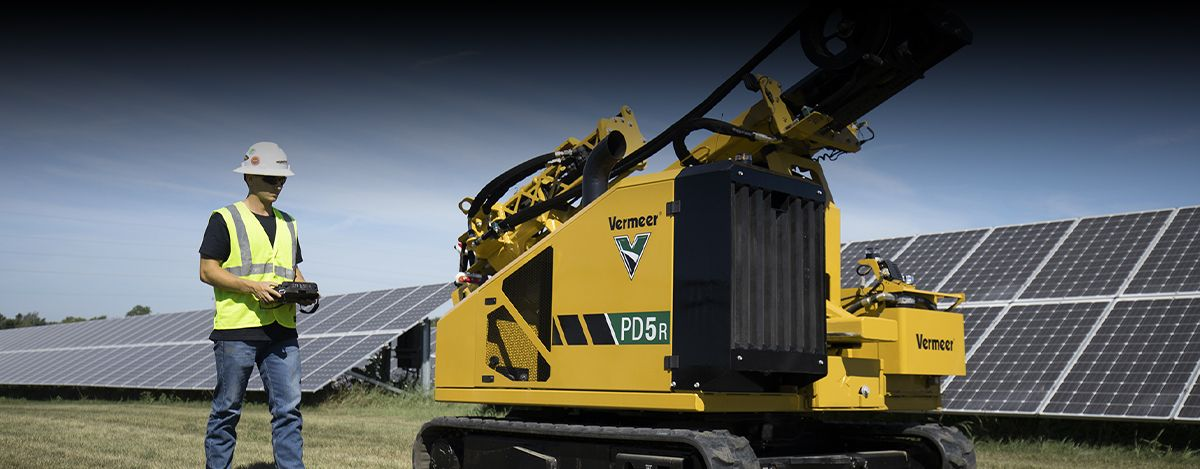 Vermeer PD5 Pile Driver - Cat® C2.2 Engine
