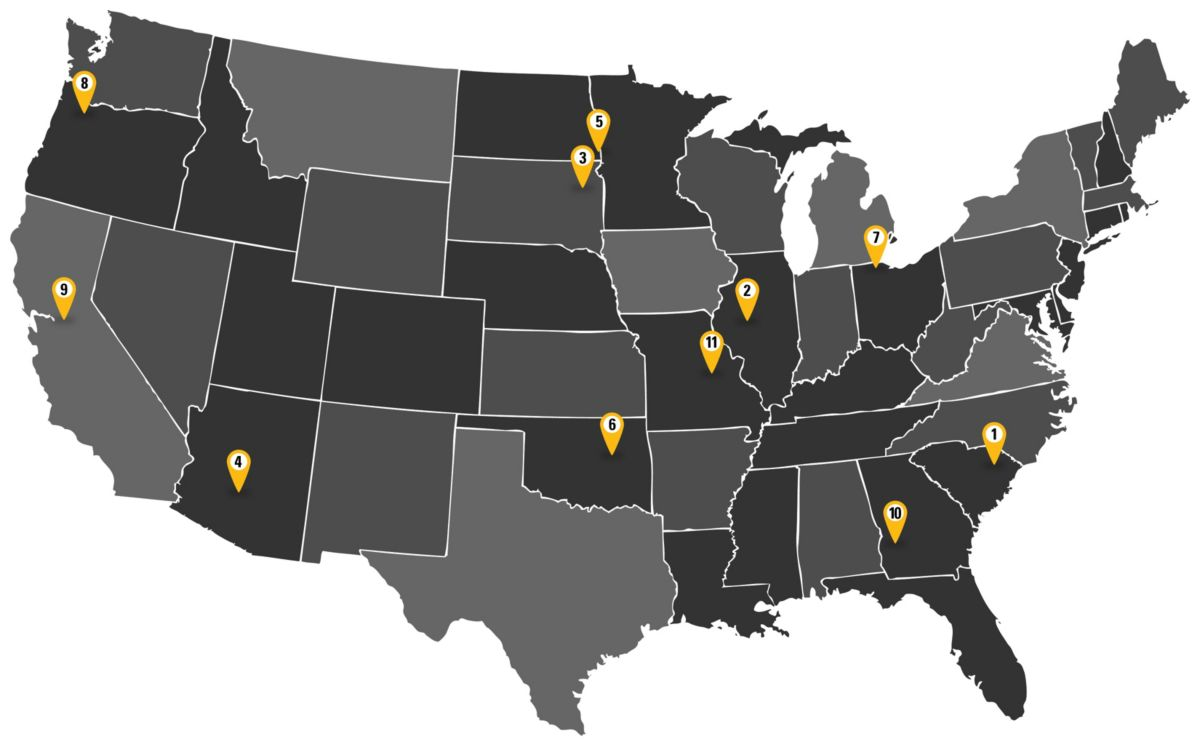 map of participating colleges