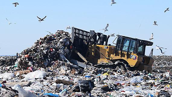 D7 at landfill