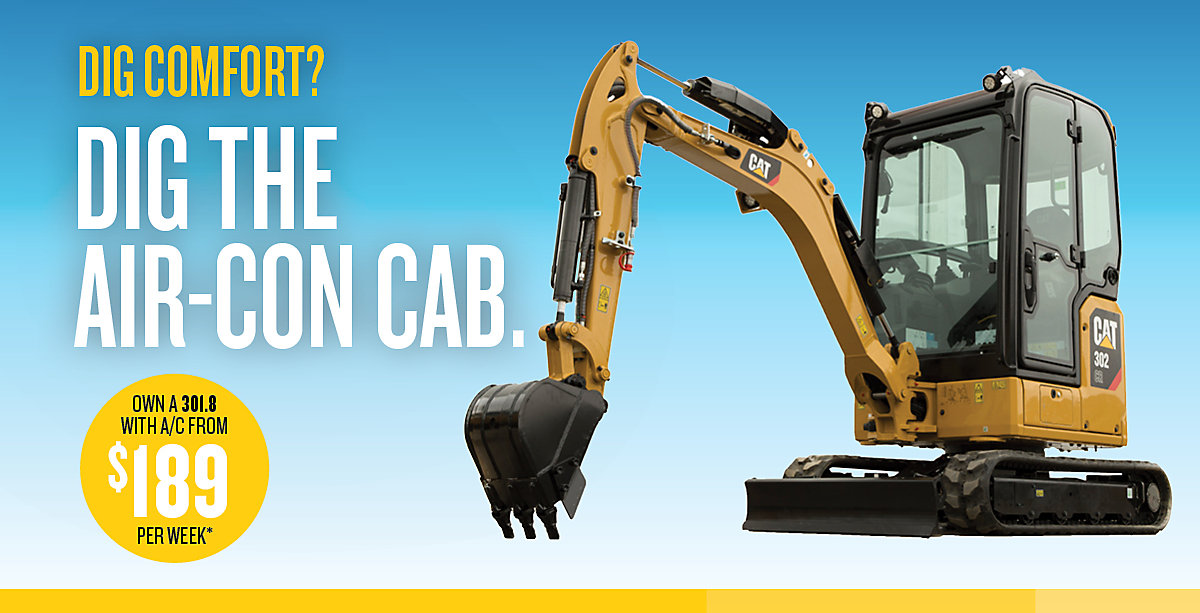 Dig the air-con cab