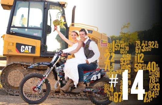 Cat Dozer / Motocross Wedding