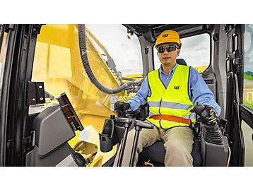 operator in an excavator