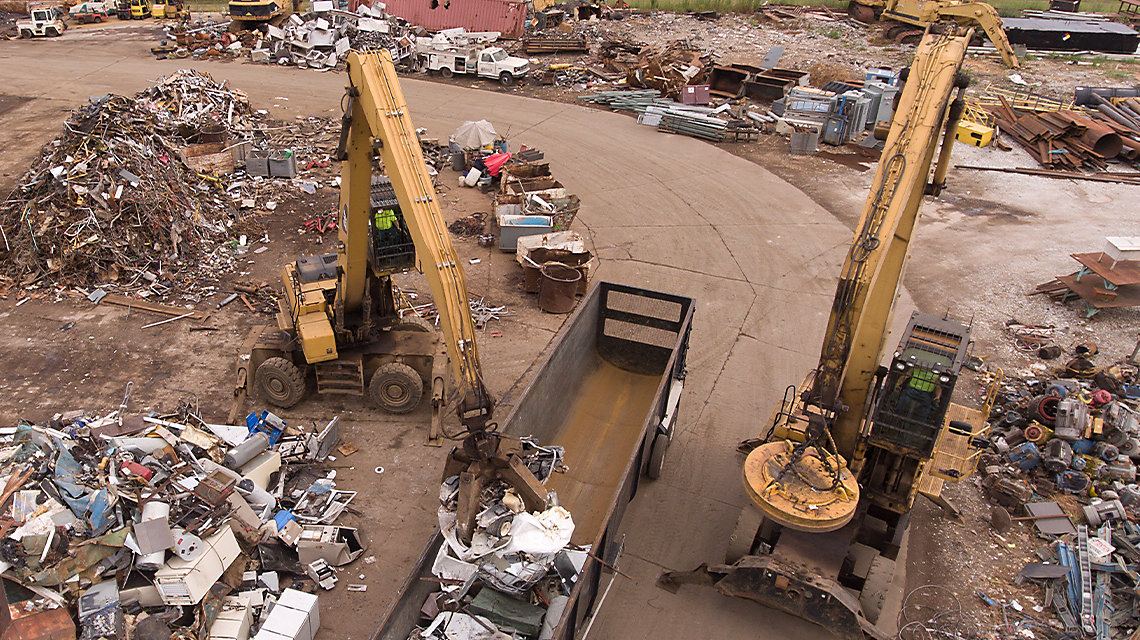 scrap recycling technology, MH at a scrap yard