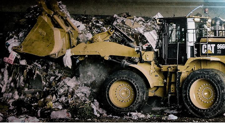 Waste Operators Love the Cat 966M XE. Your Bottom-Line Will, Too