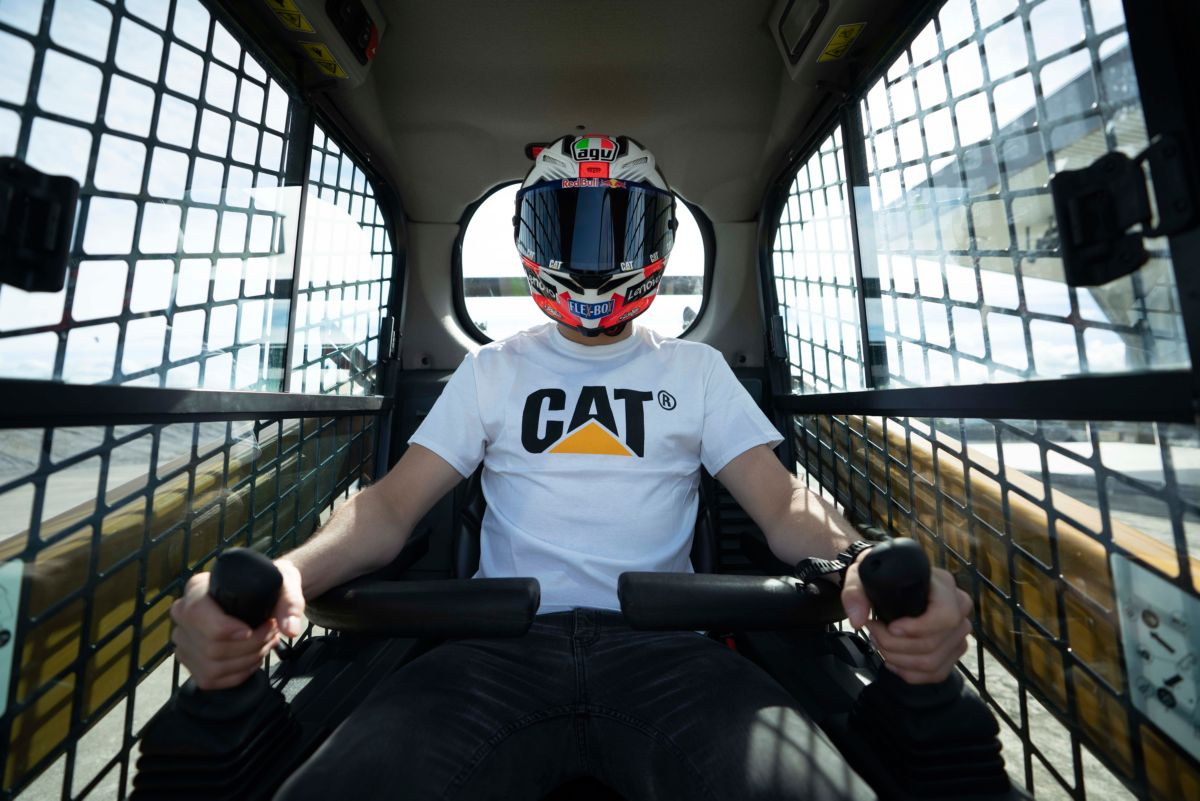 Wearing helmet in cab