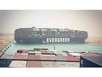 EVER GIVEN in Suez Canal