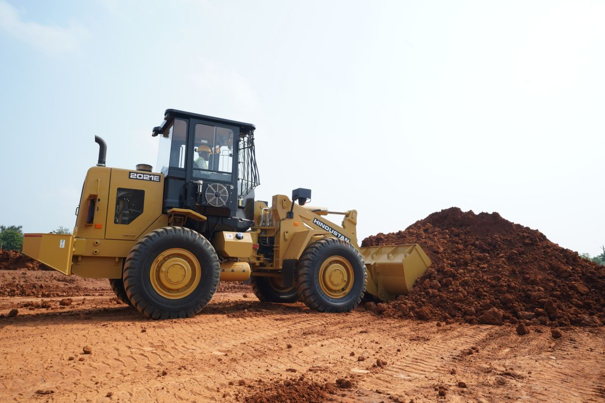The Hindustan 2021E Wheel Loader is a legacy machine with modern upgrades.