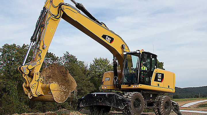 Cat Wheel Excavator Getting More Done Faster in Oklahoma