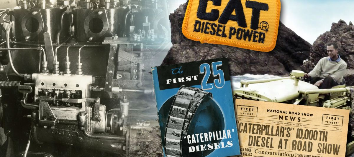 Monumental Moment in Caterpillar History: From Gas to Diesel Power