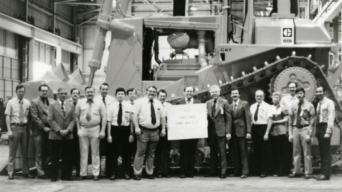 First Cat D10 Tractor production team
