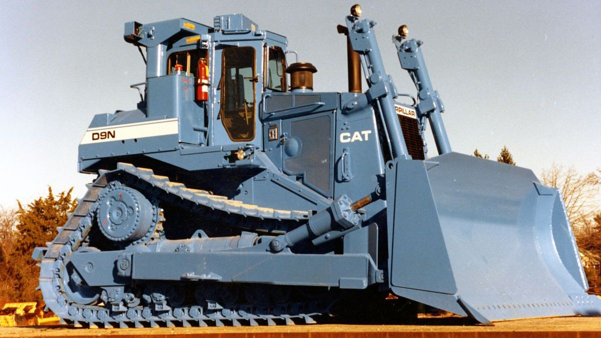Cat D9N track-type tractor, ca. 1987.