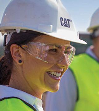 Female on jobsite
