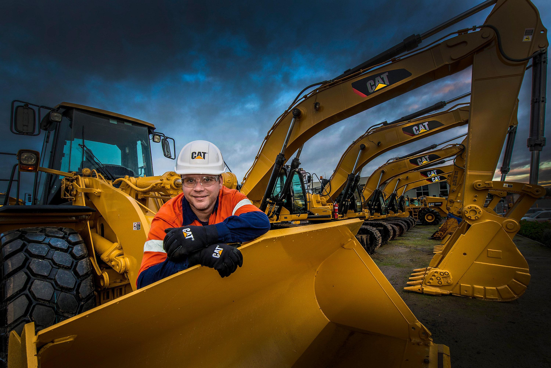 mini excavator on a jobsite