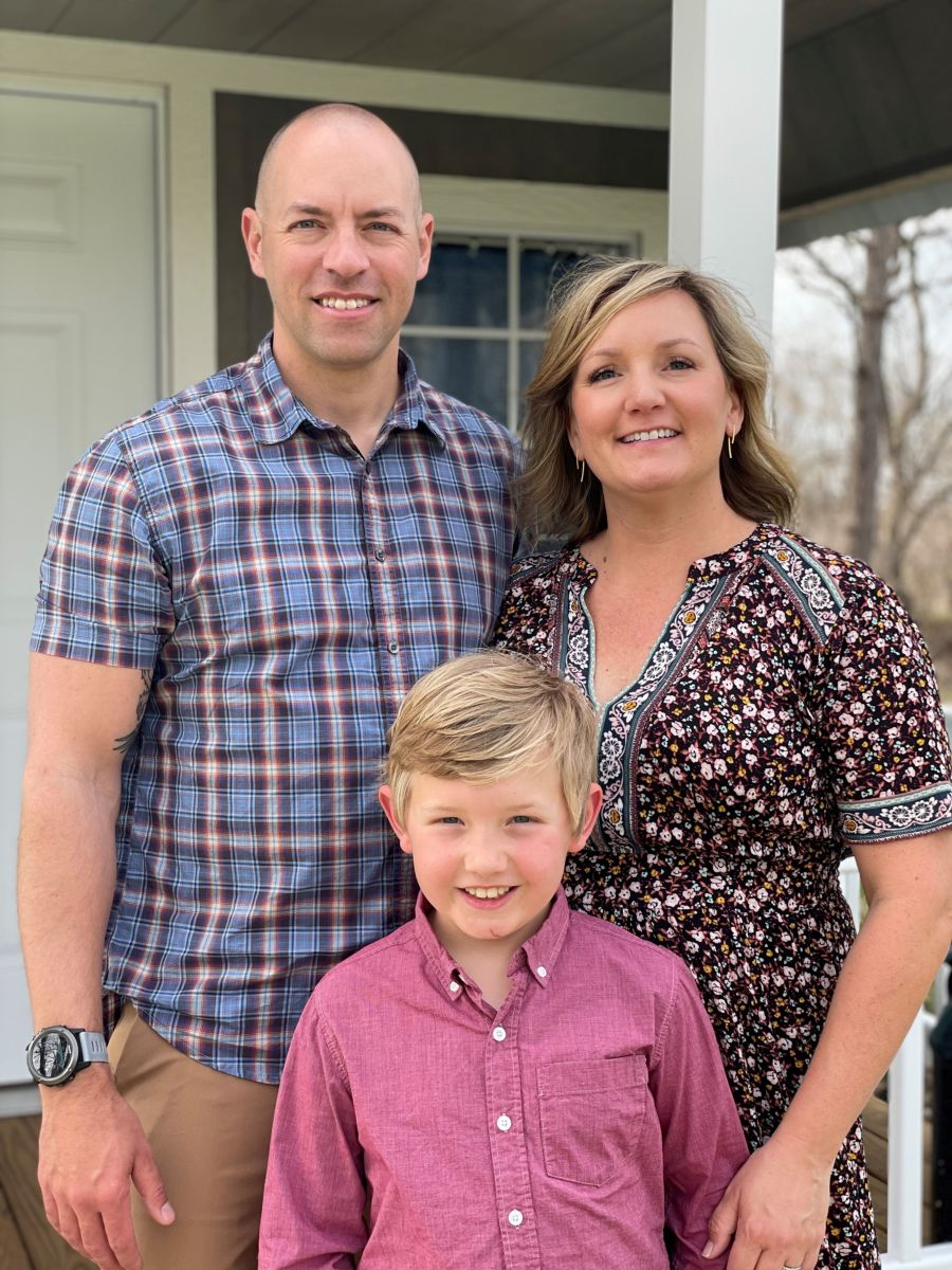Justin Ganschow and family