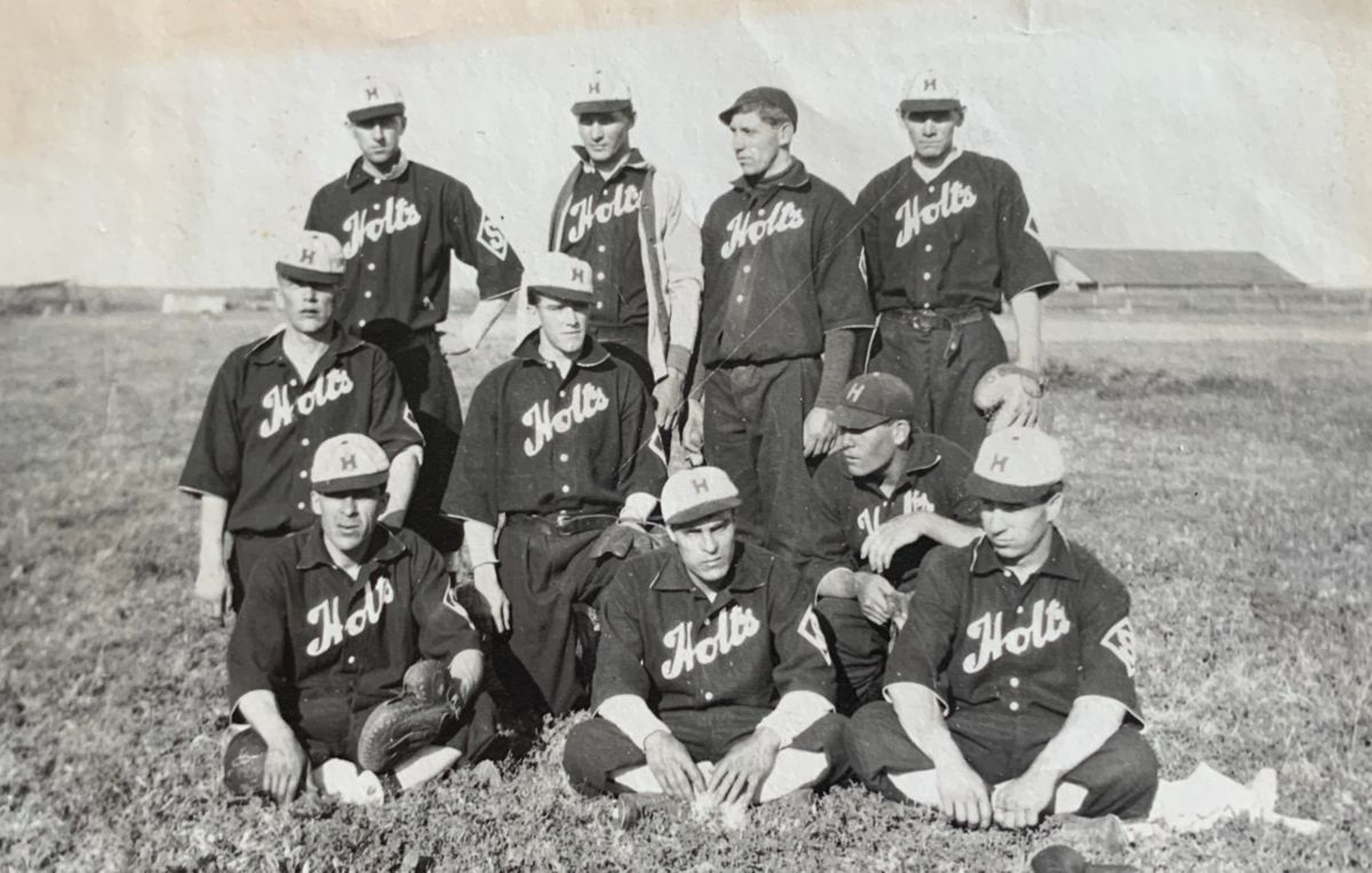 The1910 Holt Side Hills company-sponsored baseball team.