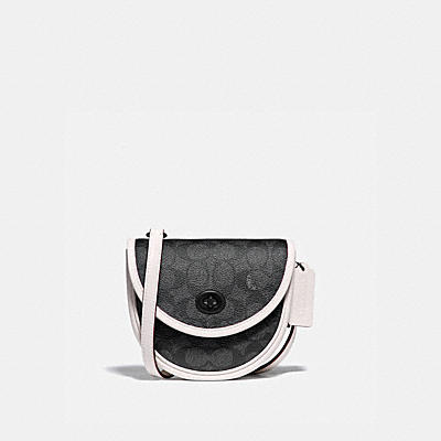 TURNLOCK CONVERTIBLE CROSSBODY IN SIGNATURE CANVAS