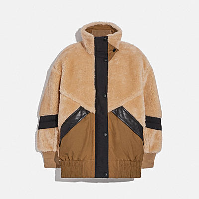 PIECED FLEECE PARKA