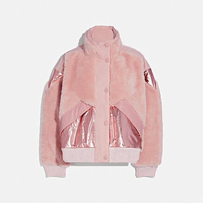 PIECED FLEECE JACKET