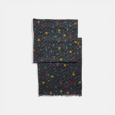 コーチ COACHのスカーフ |シグネチャー ワイルドフラワー プリント オブロング スカーフ