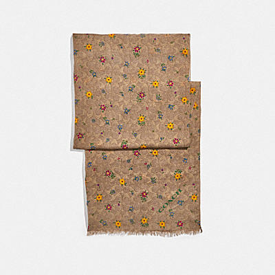 SIGNATURE WILDFLOWER PRINT OBLONG SCARF