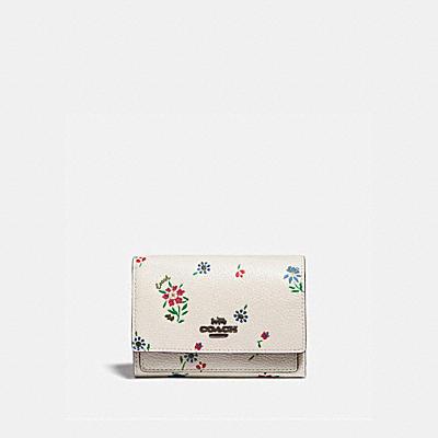 コーチ COACHの二つ折り財布&ミニ財布 |ミディアム フラップ ウォレット ウィズ ワイルドフラワー プリント