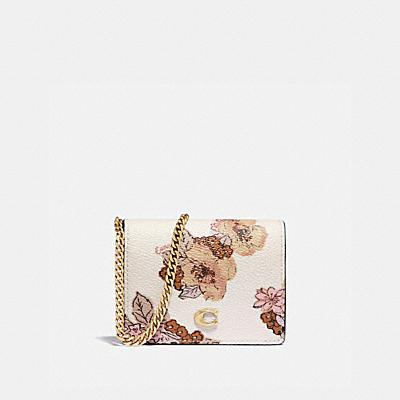 コーチ COACHの全ての財布&革小物 |チェーン カード ケース ウィズ フローラル ブーケ プリント
