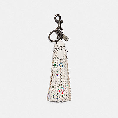 TASSEL BAG CHARM WITH WILDFLOWER PRINT